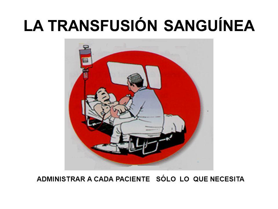LA TRANSFUSIÓN SANGUÍNEA