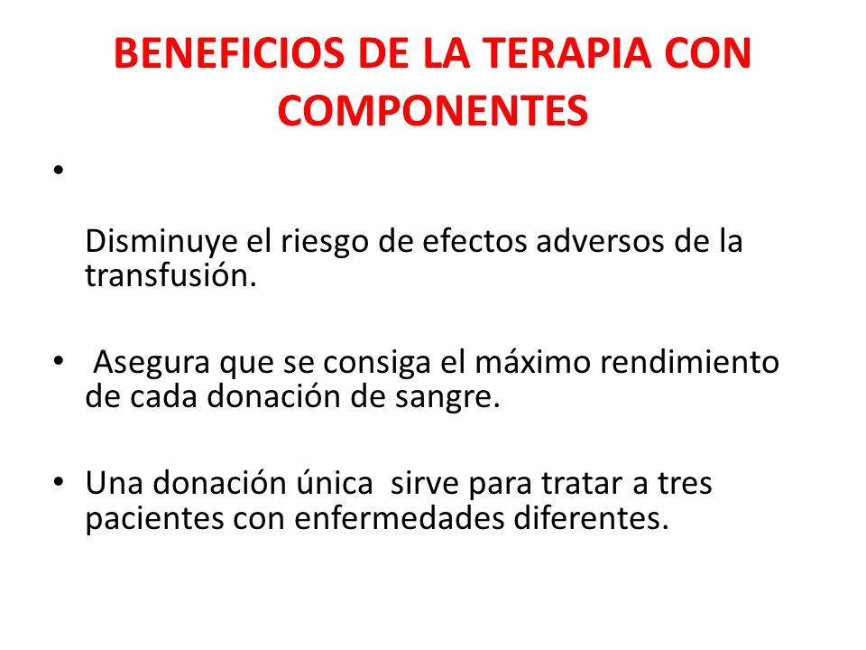 BENEFICIOS DE LA TERAPIA CON COMPONENTES
