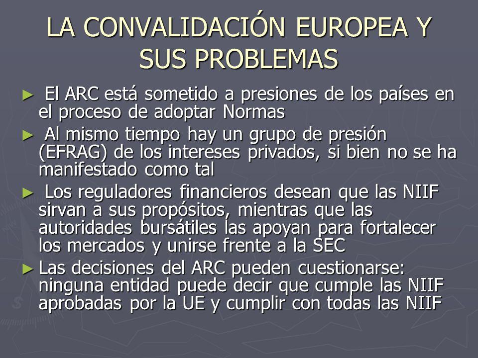 LA CONVALIDACIÓN EUROPEA Y SUS PROBLEMAS