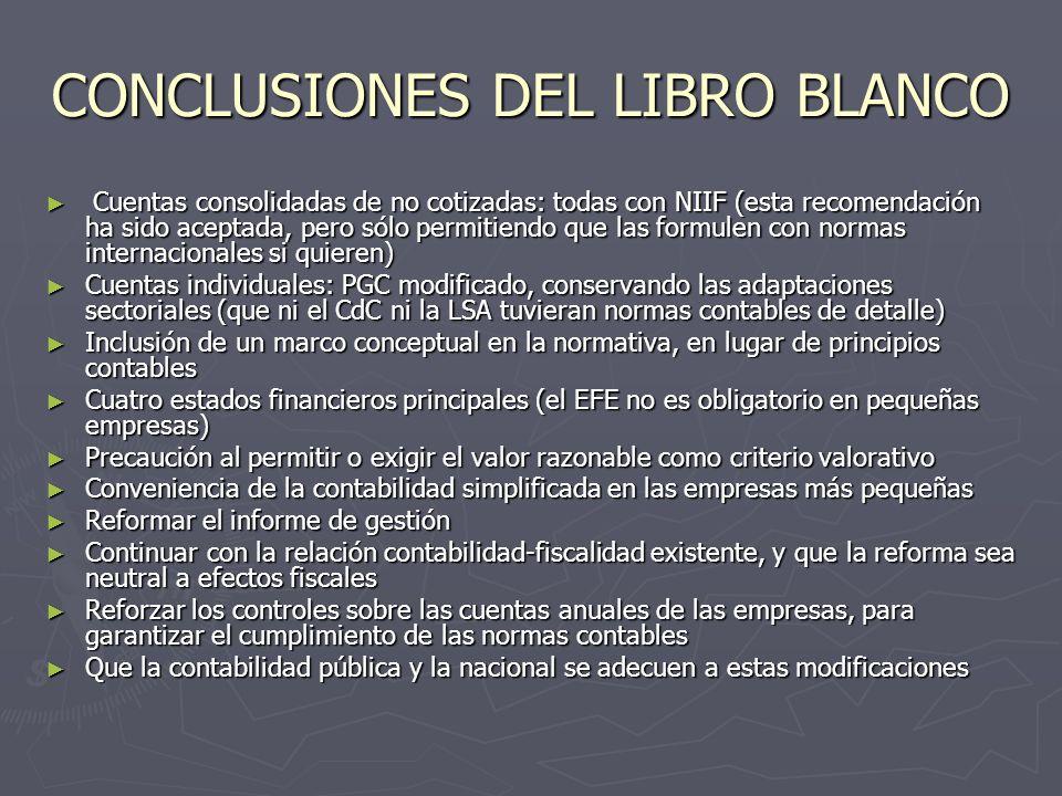 CONCLUSIONES DEL LIBRO BLANCO