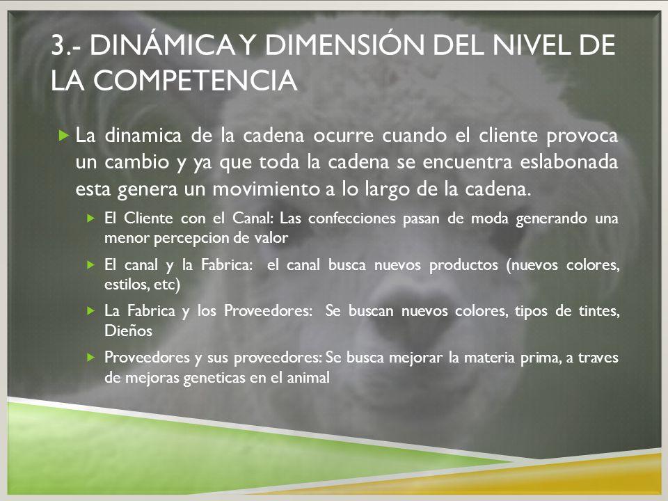 3.- dinámica y dimensión del nivel de la competencia