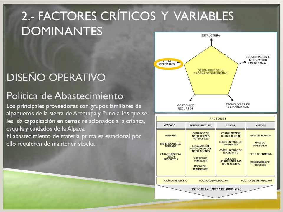 2.- factores críticos y variables dominantes
