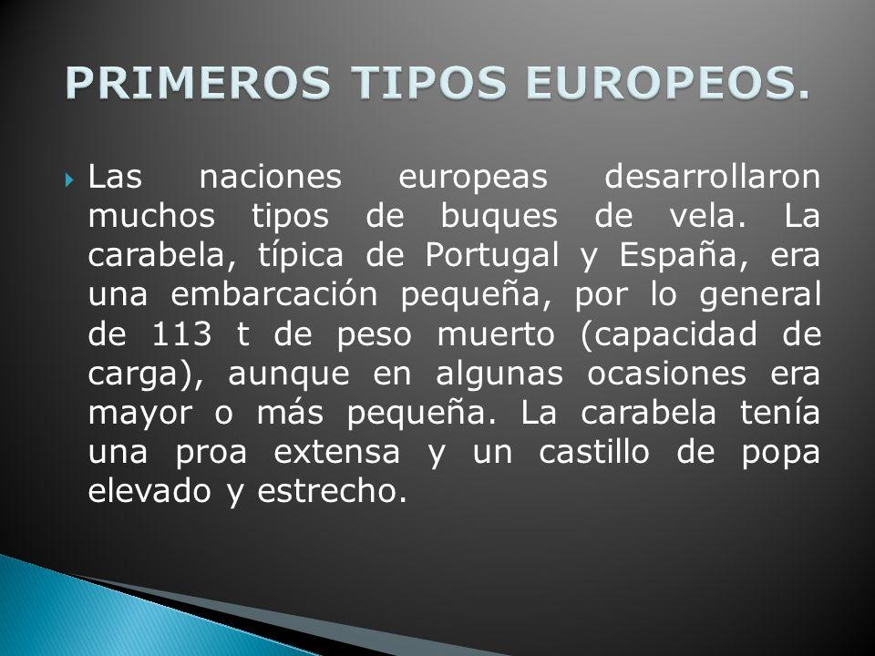 PRIMEROS TIPOS EUROPEOS.