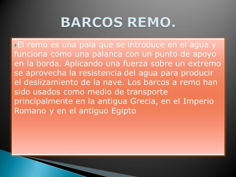 BARCOS REMO.
