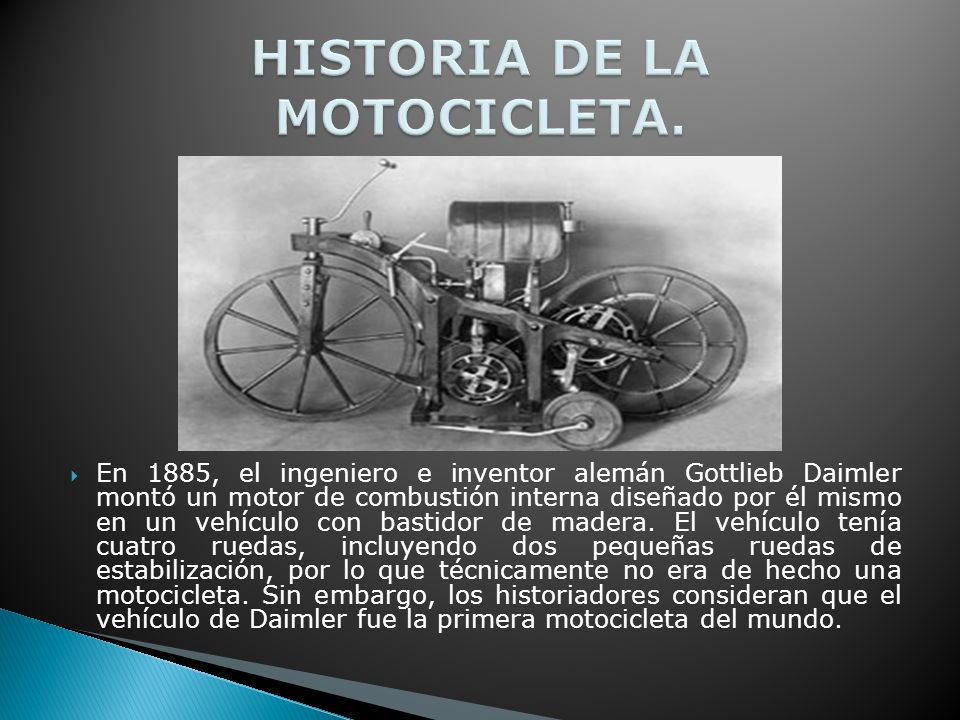HISTORIA DE LA MOTOCICLETA.