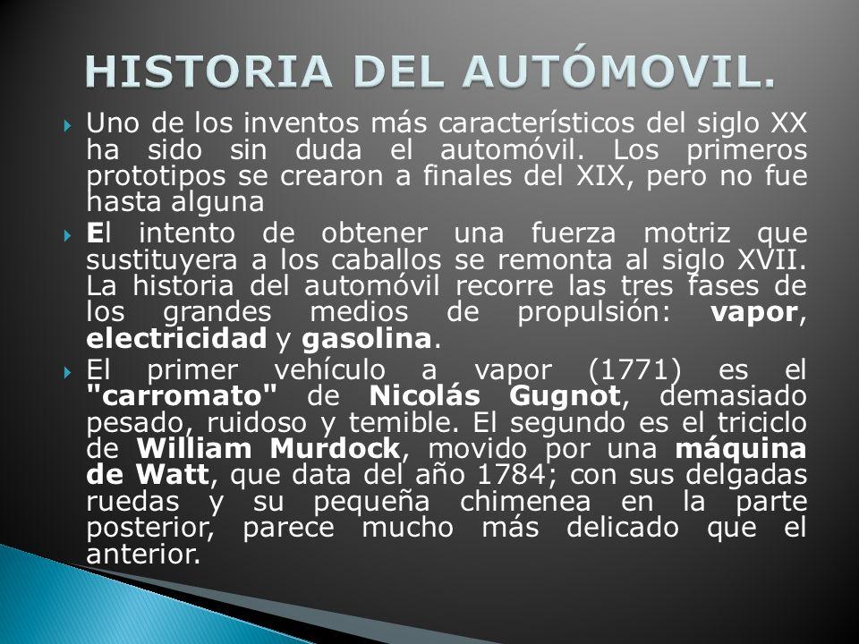 HISTORIA DEL AUTÓMOVIL.