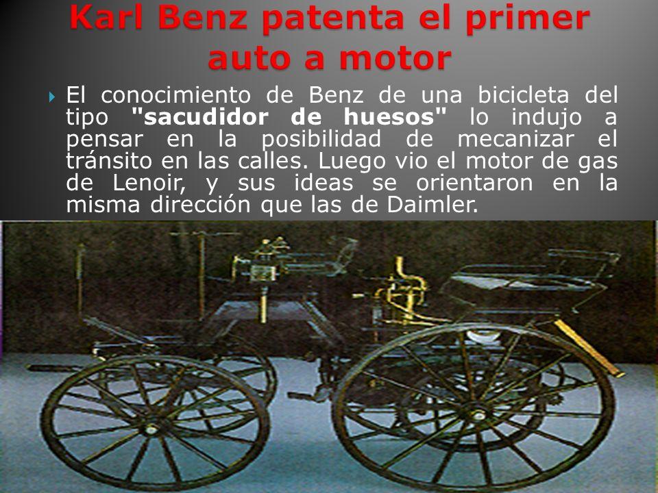 Karl Benz patenta el primer auto a motor
