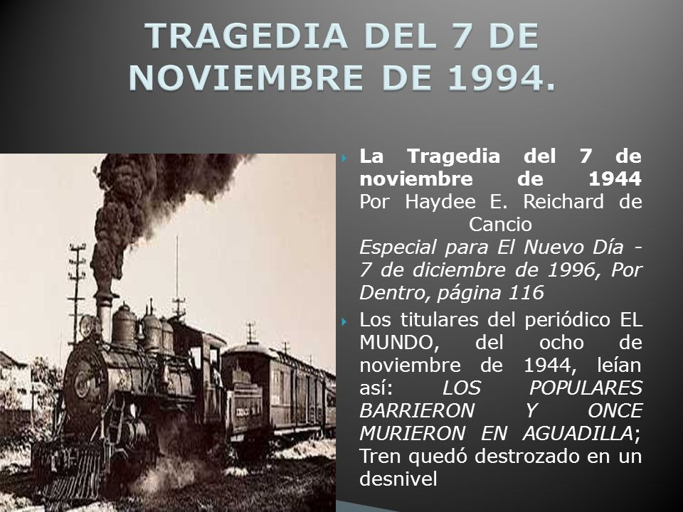 TRAGEDIA DEL 7 DE NOVIEMBRE DE 1994.