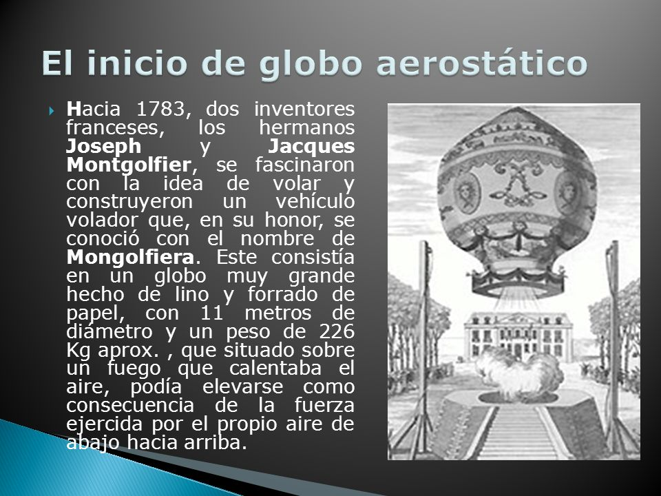 El inicio de globo aerostático