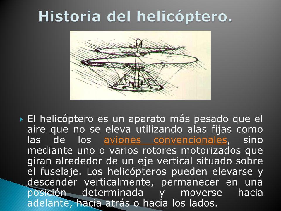 Historia del helicóptero.