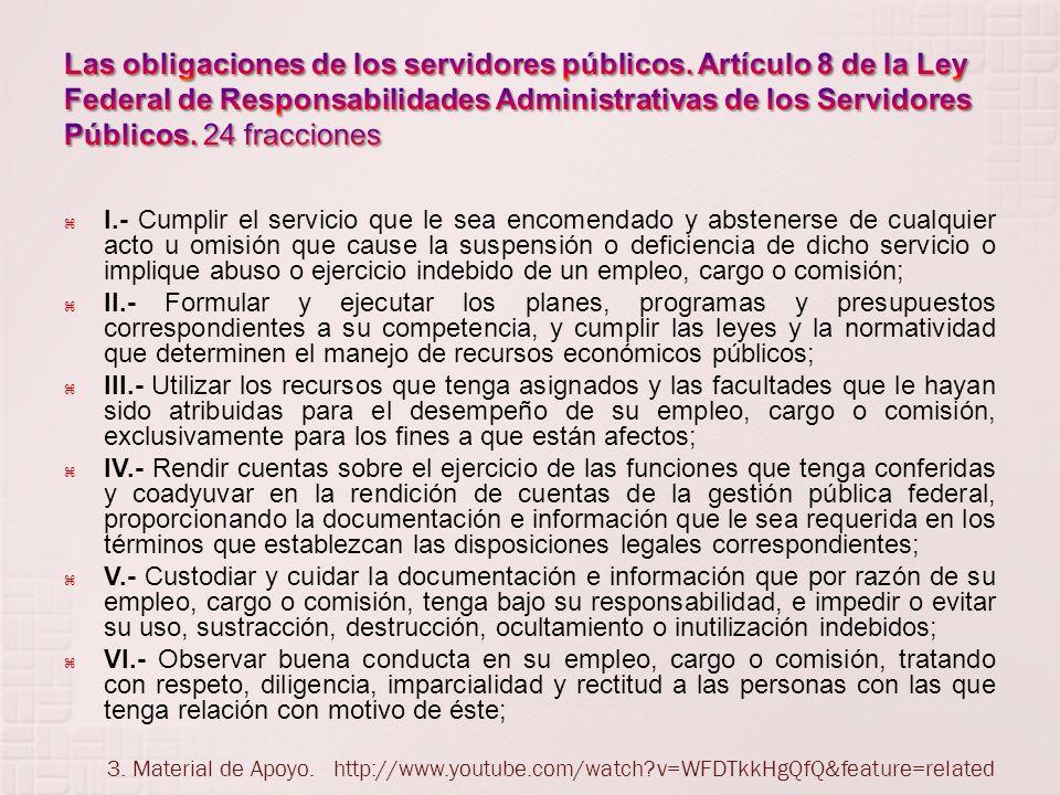 Las obligaciones de los servidores públicos