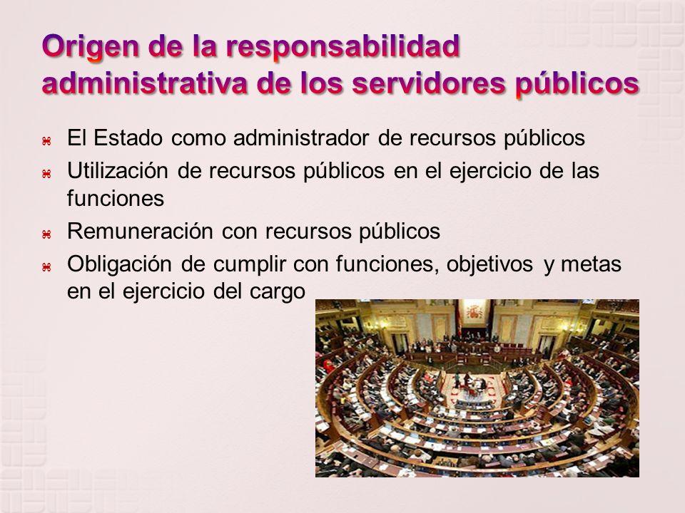 Origen de la responsabilidad administrativa de los servidores públicos