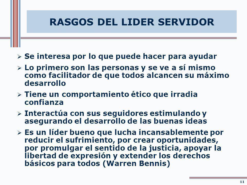 RASGOS DEL LIDER SERVIDOR