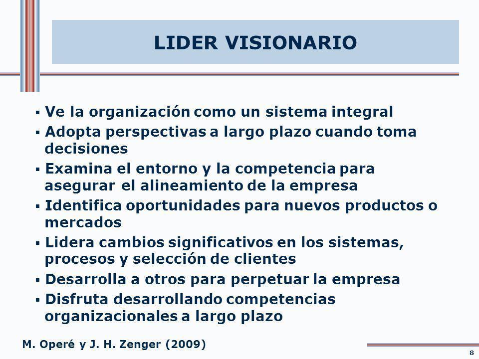 LIDER VISIONARIO Ve la organización como un sistema integral