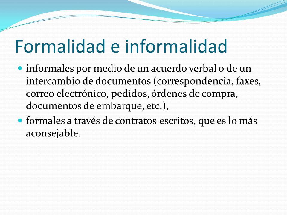 Formalidad e informalidad