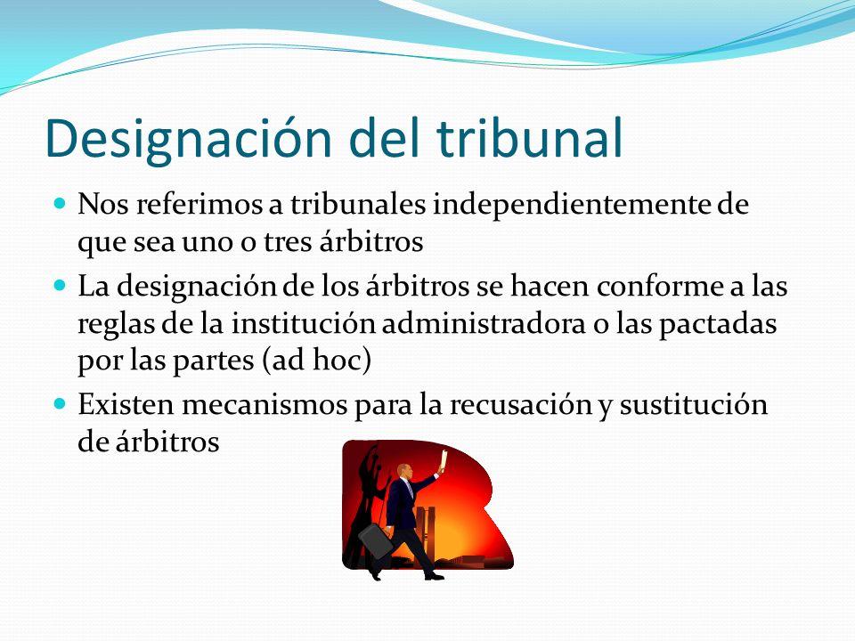 Designación del tribunal