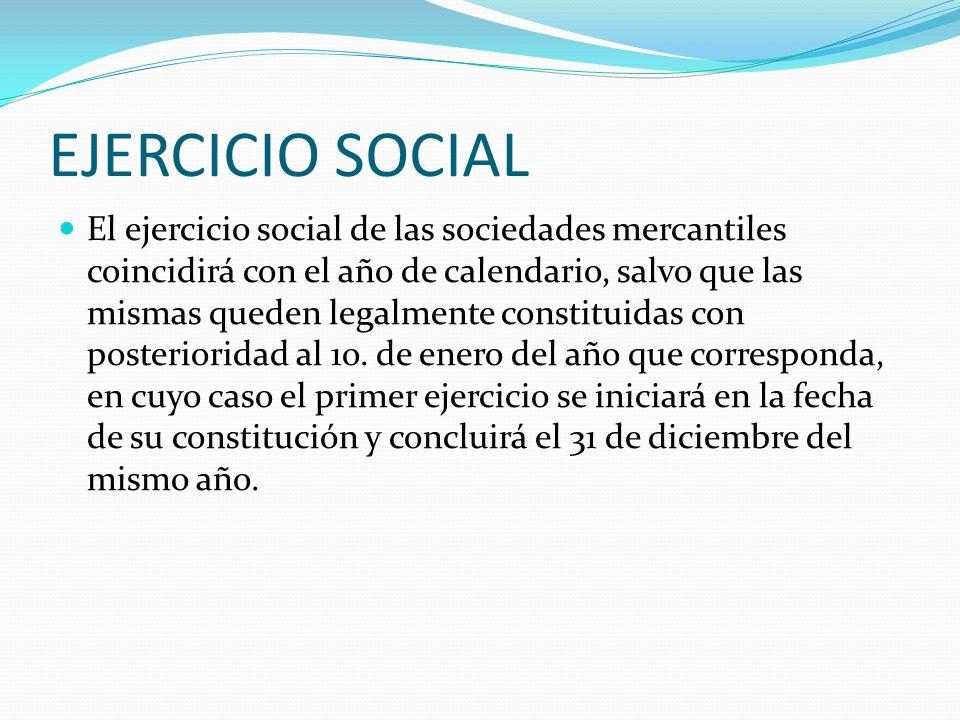 EJERCICIO SOCIAL