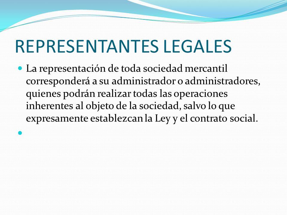 REPRESENTANTES LEGALES