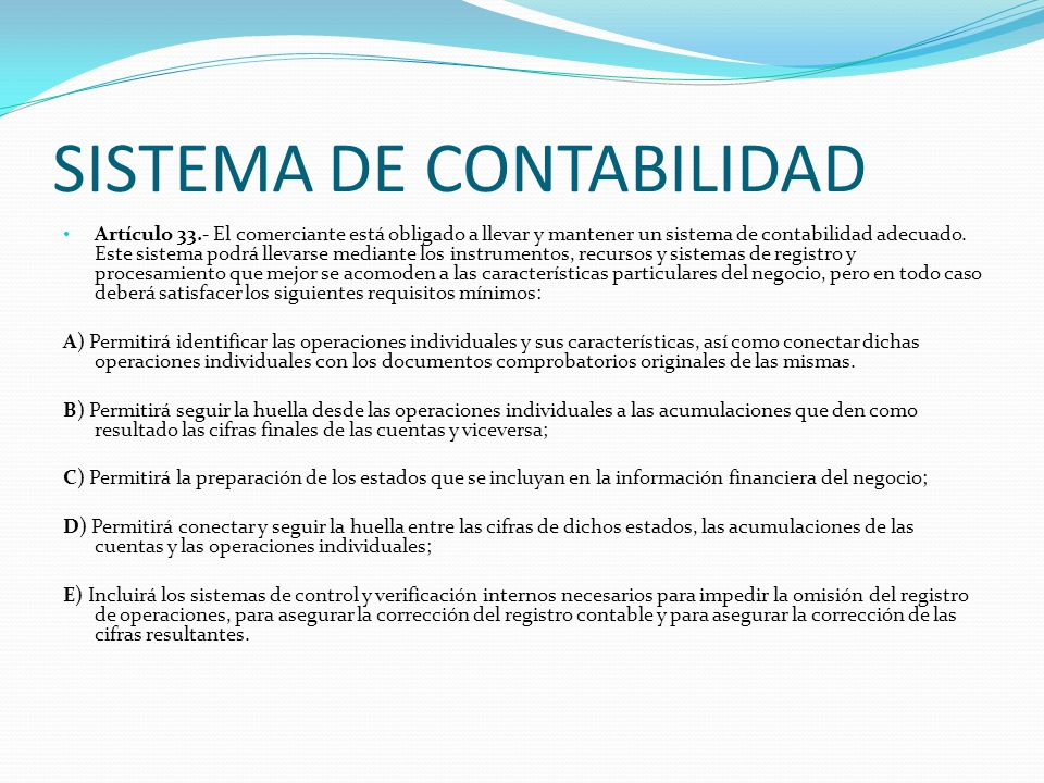SISTEMA DE CONTABILIDAD