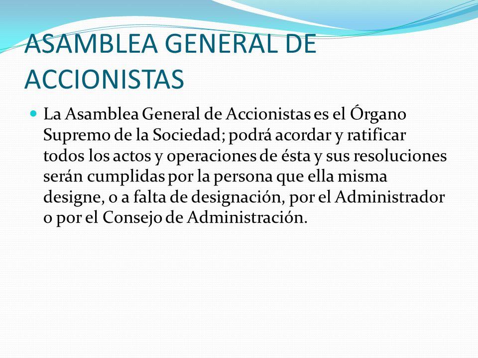 ASAMBLEA GENERAL DE ACCIONISTAS