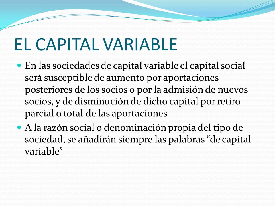 EL CAPITAL VARIABLE