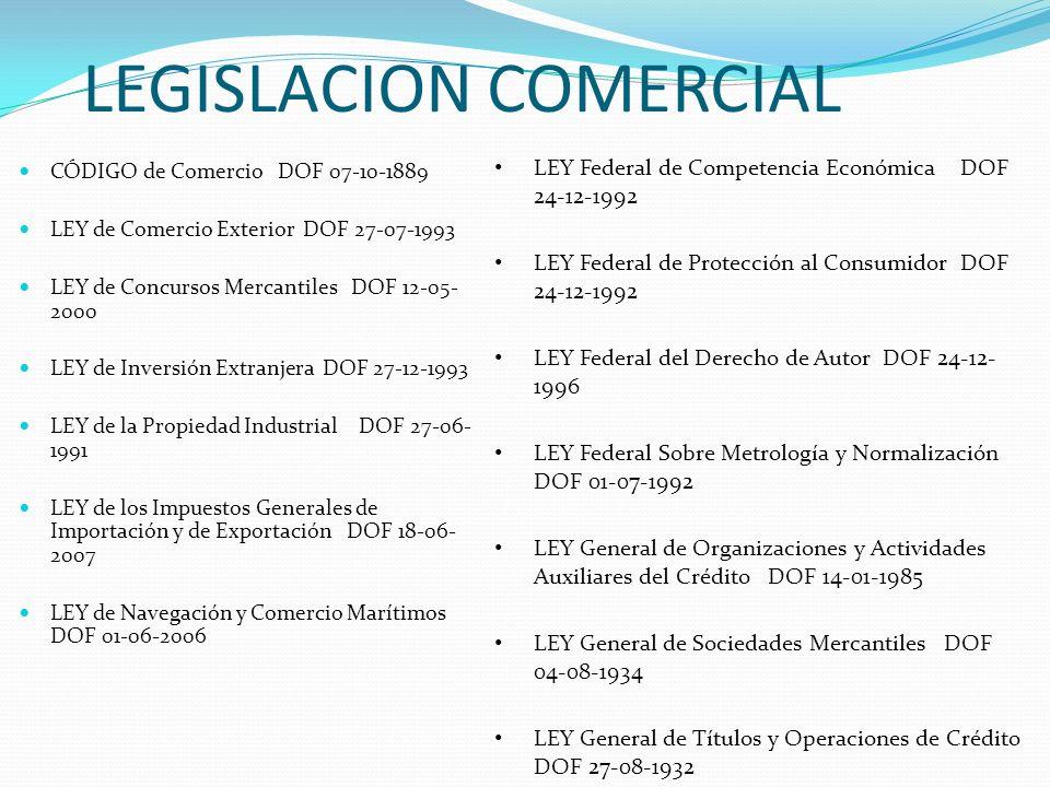 LEGISLACION COMERCIAL