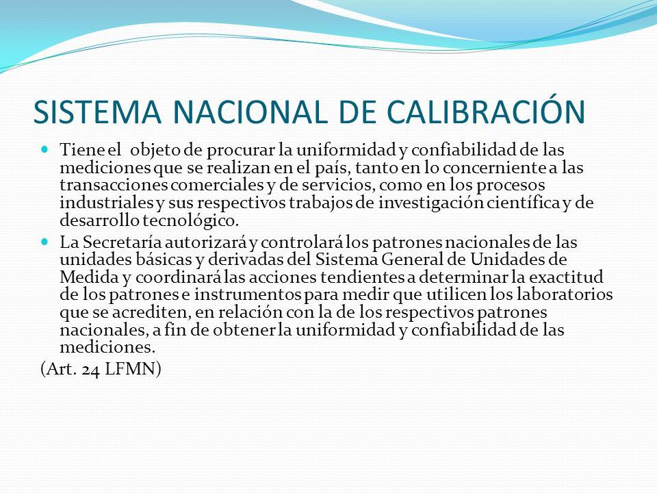 SISTEMA NACIONAL DE CALIBRACIÓN