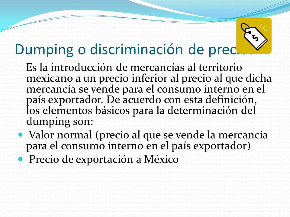 Dumping o discriminación de precios