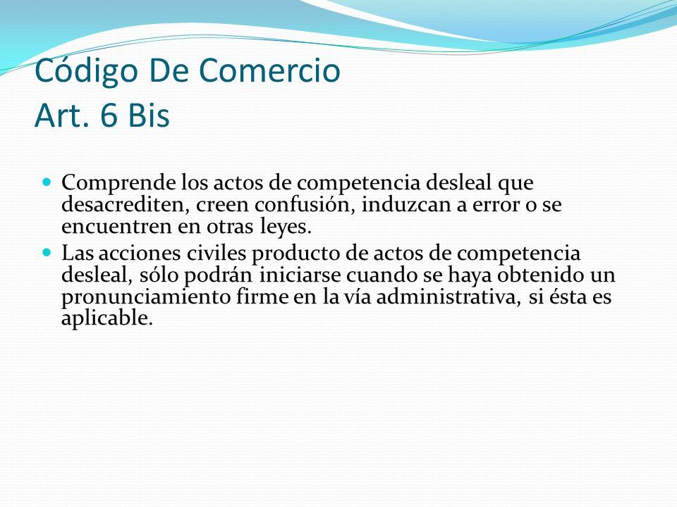 Código De Comercio Art. 6 Bis