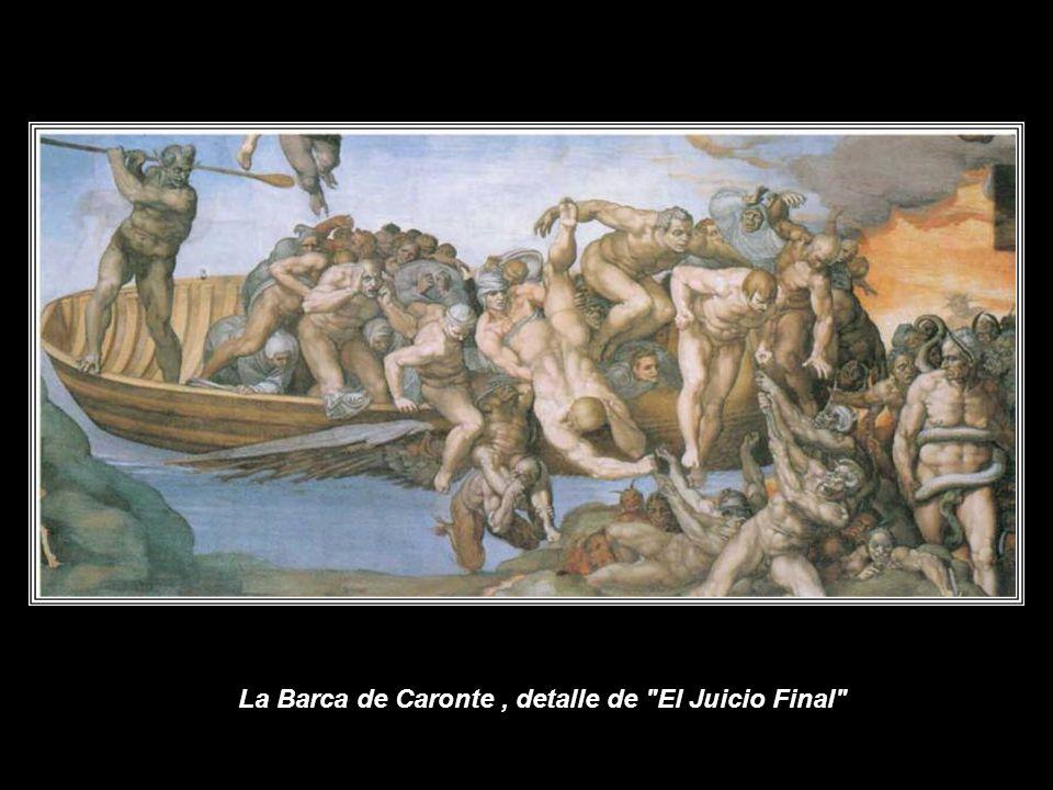 La Barca de Caronte , detalle de El Juicio Final