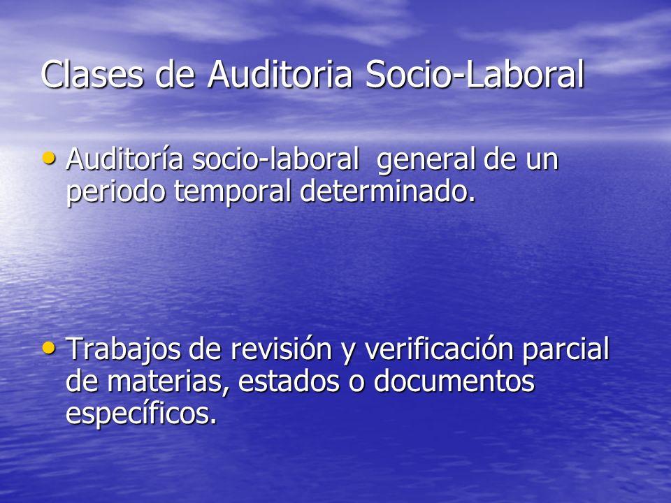 Clases de Auditoria Socio-Laboral