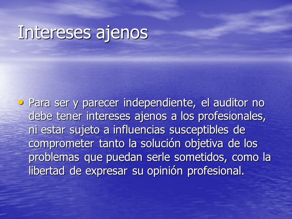 Intereses ajenos