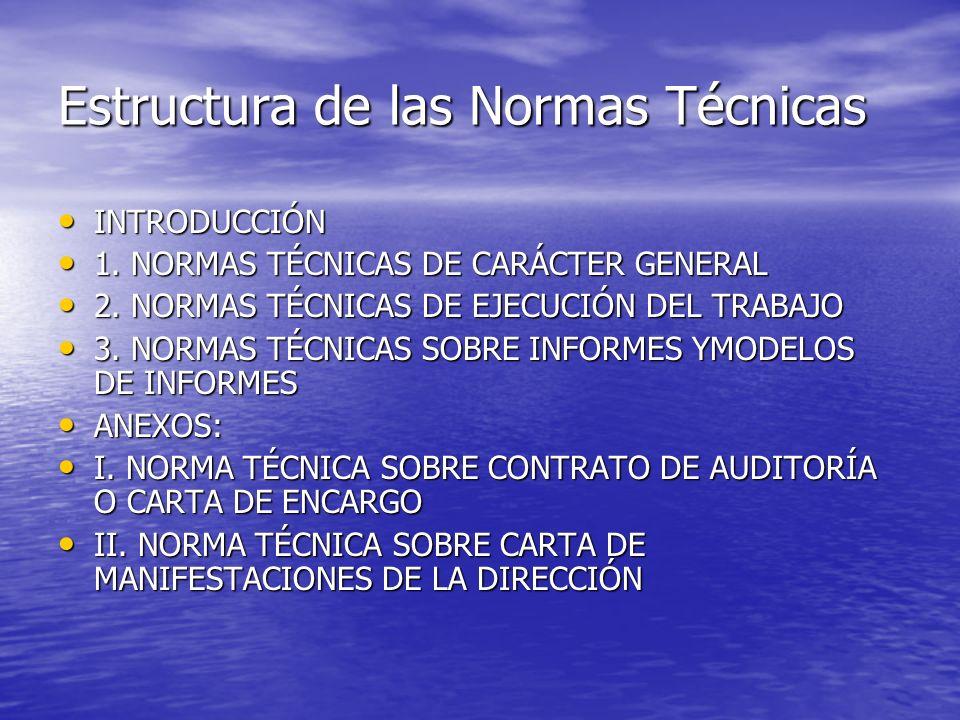 Estructura de las Normas Técnicas