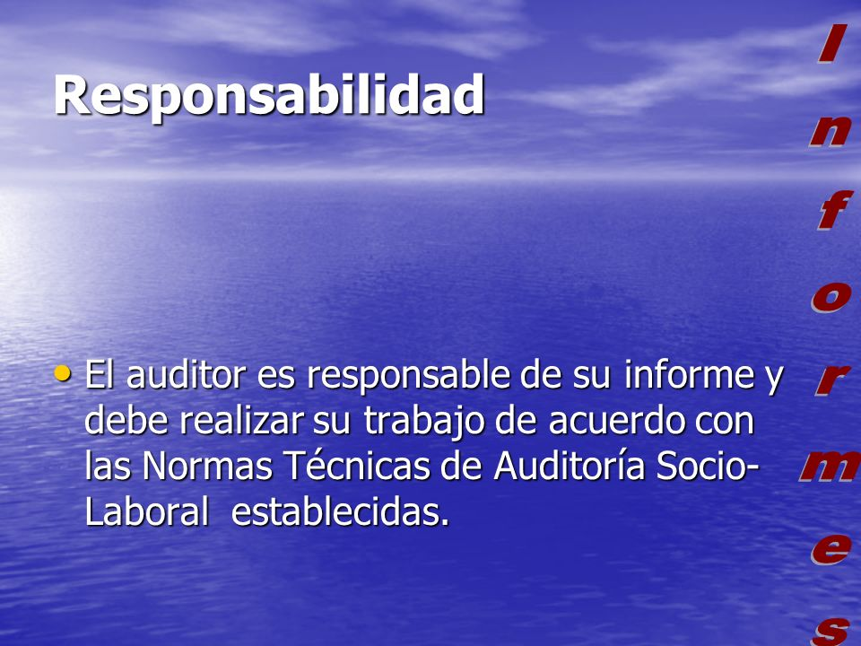 Responsabilidad Informes