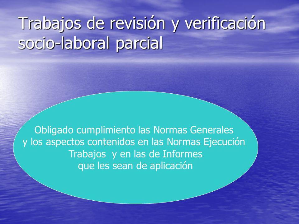Trabajos de revisión y verificación socio-laboral parcial