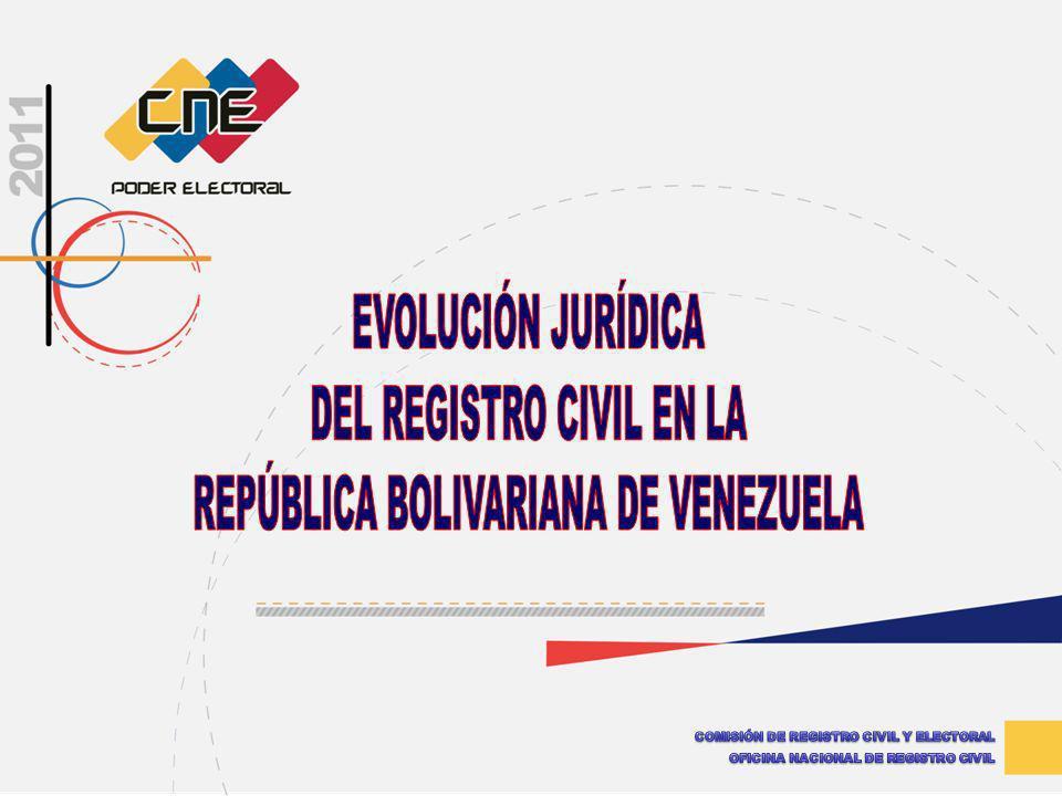 DEL REGISTRO CIVIL EN LA REPÚBLICA BOLIVARIANA DE VENEZUELA