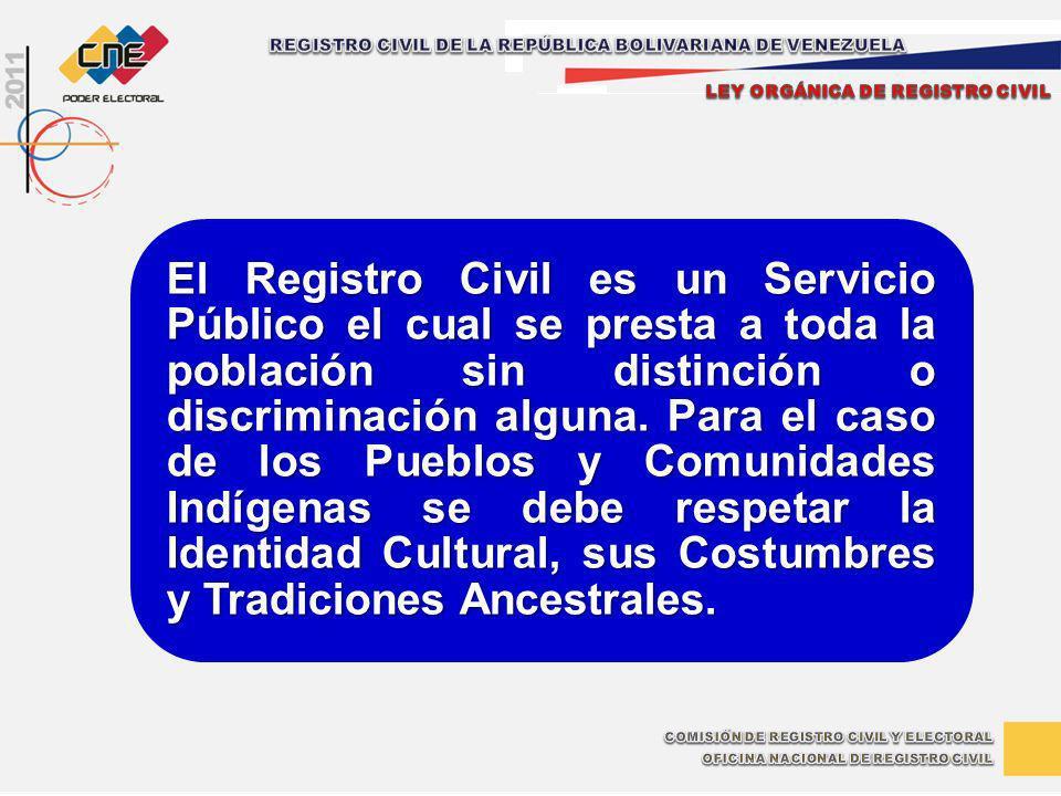 REGISTRO CIVIL DE LA REPÚBLICA BOLIVARIANA DE VENEZUELA