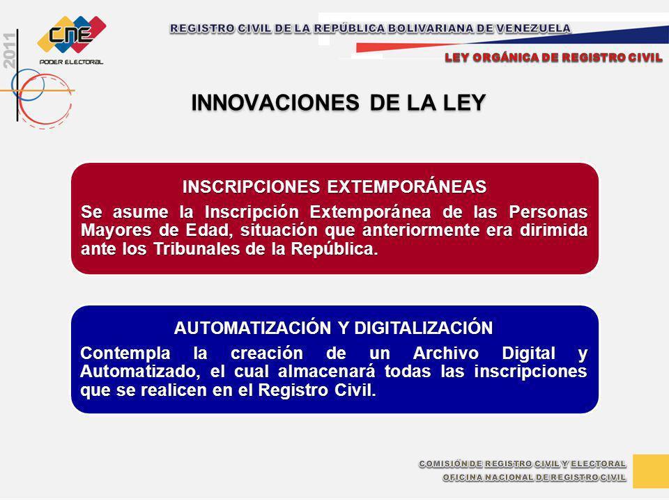 INSCRIPCIONES EXTEMPORÁNEAS AUTOMATIZACIÓN Y DIGITALIZACIÓN