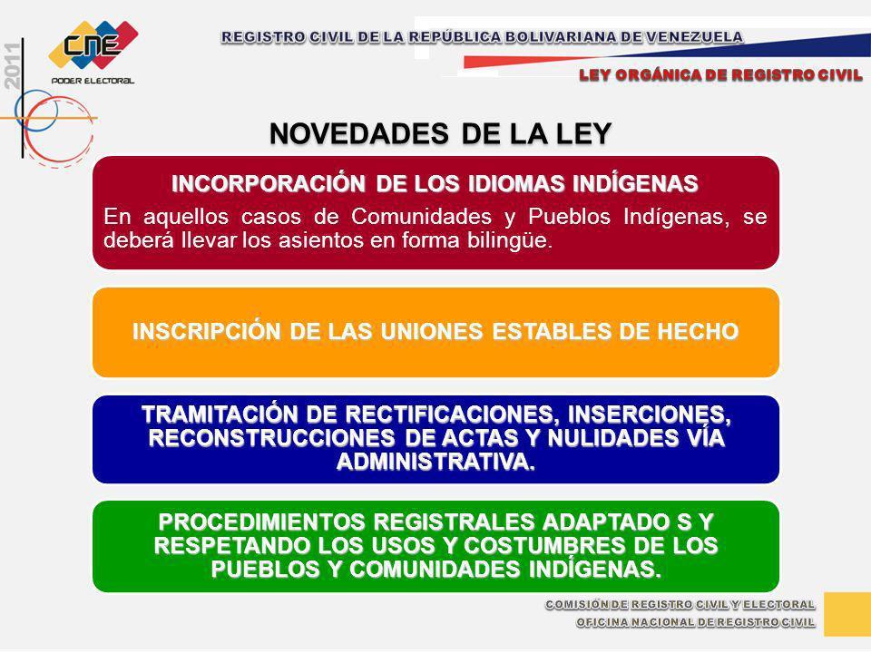 NOVEDADES DE LA LEY INCORPORACIÓN DE LOS IDIOMAS INDÍGENAS