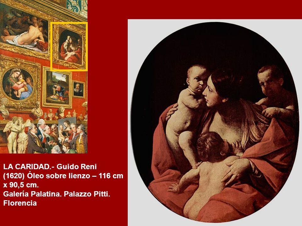 LA CARIDAD.- Guido Reni (1620) Óleo sobre lienzo – 116 cm x 90,5 cm.