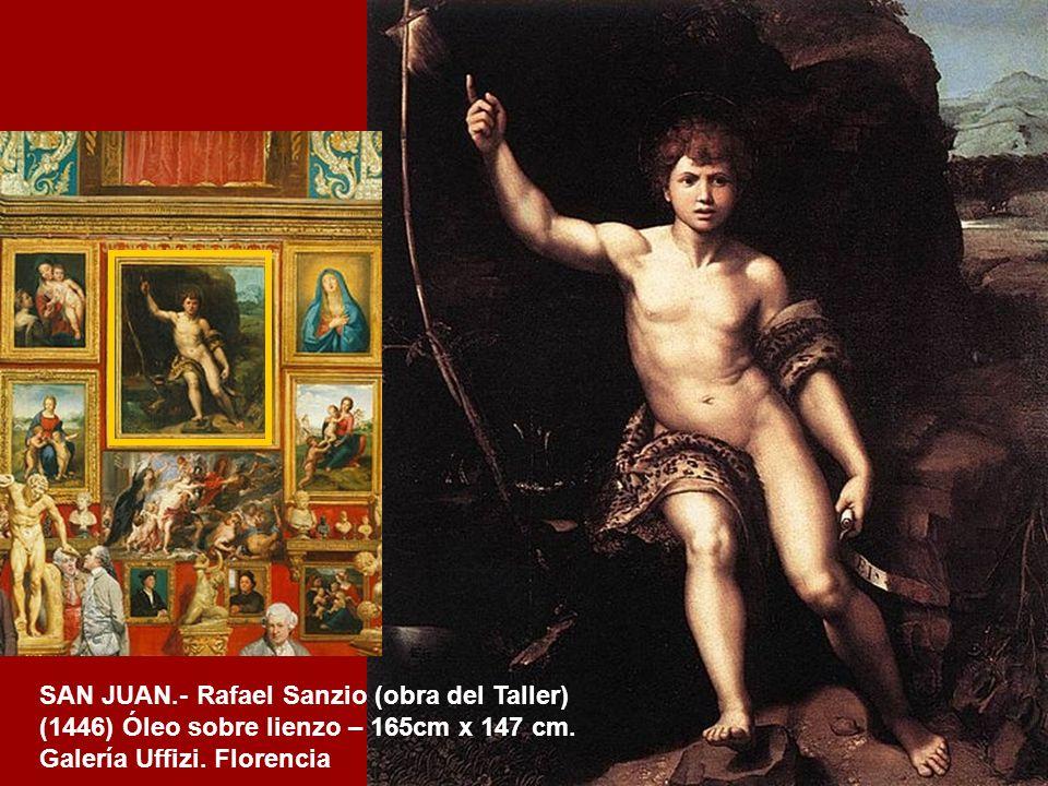 SAN JUAN.- Rafael Sanzio (obra del Taller)