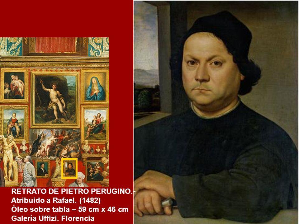 RETRATO DE PIETRO PERUGINO.- Atribuido a Rafael. (1482)