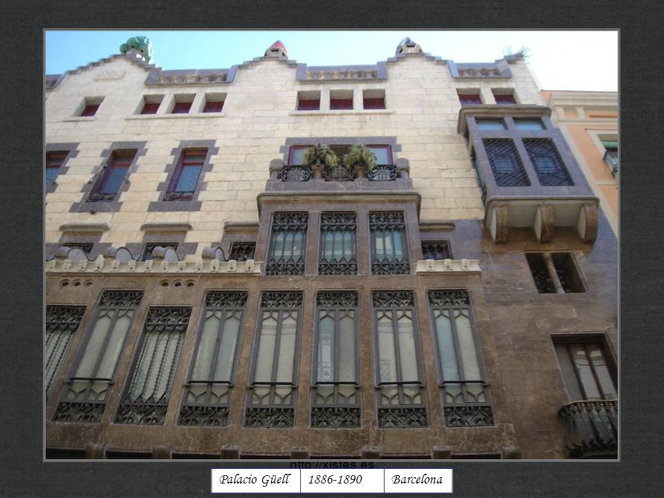 http://xistes.es Palacio Güell 1886-1890 Barcelona