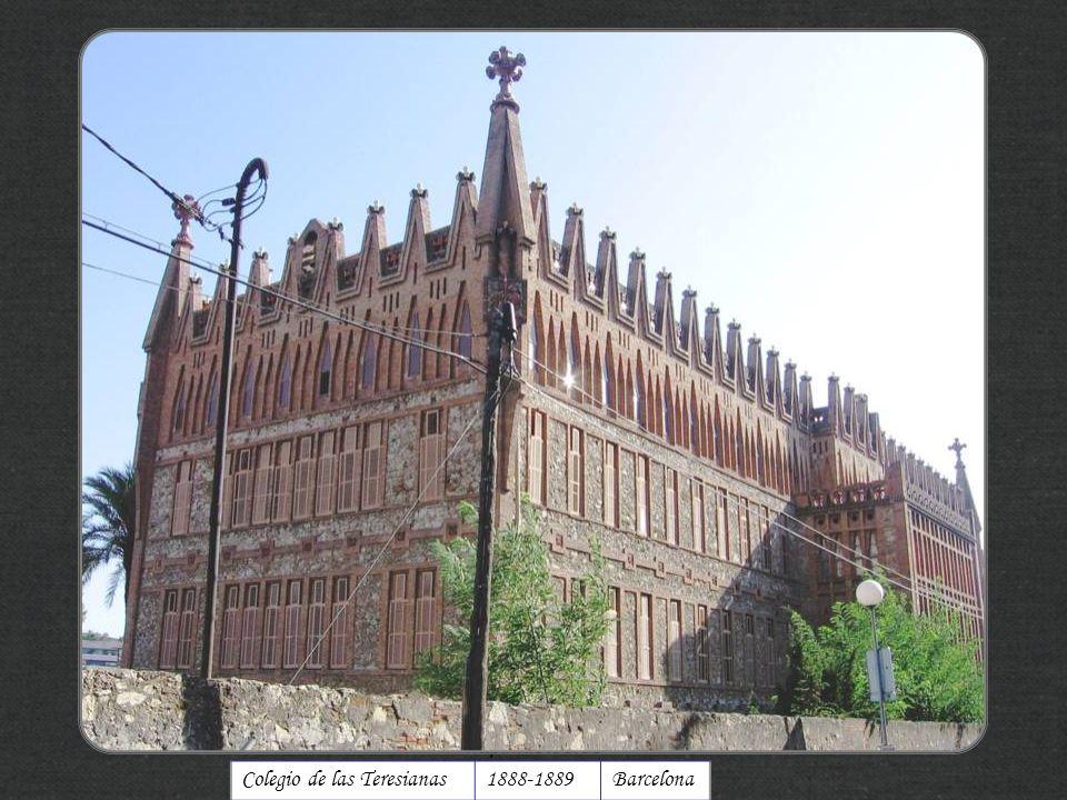 Colegio de las Teresianas 1888-1889 Barcelona