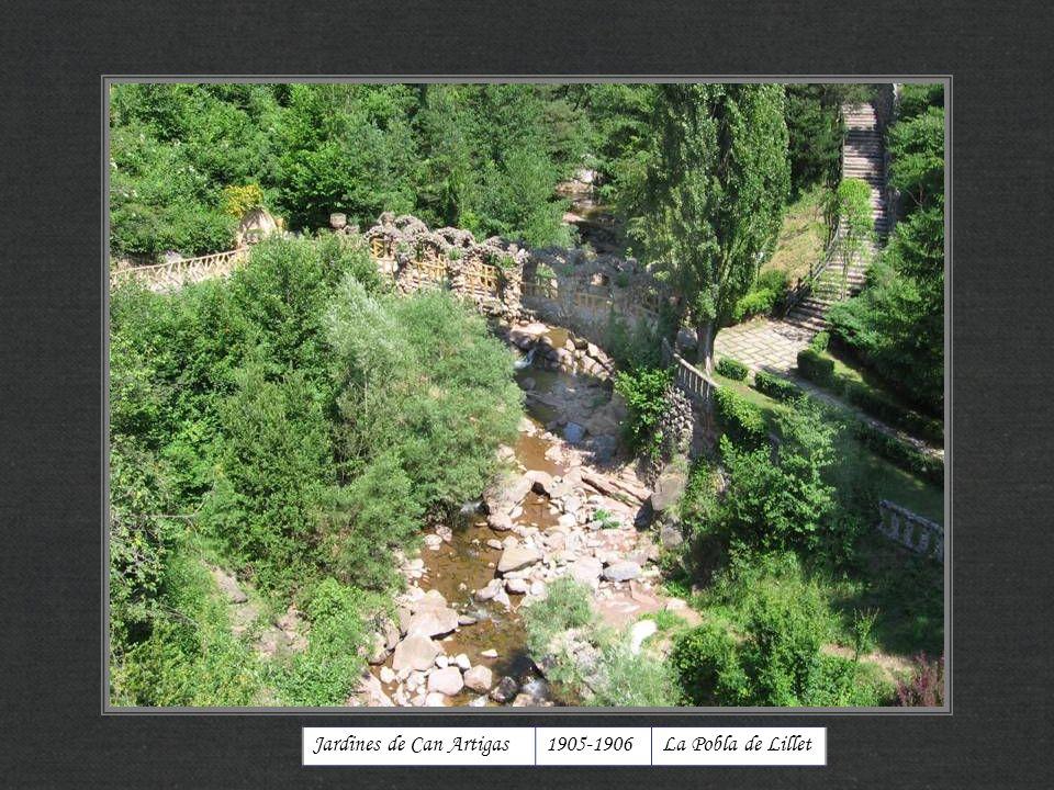 Jardines de Can Artigas 1905-1906 La Pobla de Lillet
