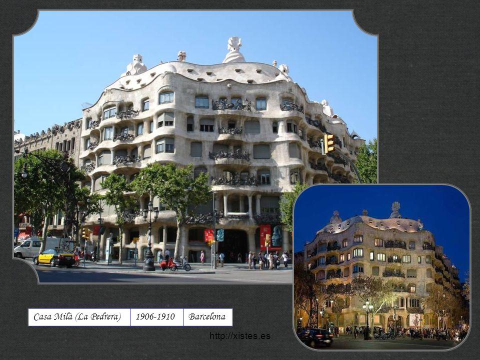 Casa Milà (La Pedrera) 1906-1910 Barcelona http://xistes.es