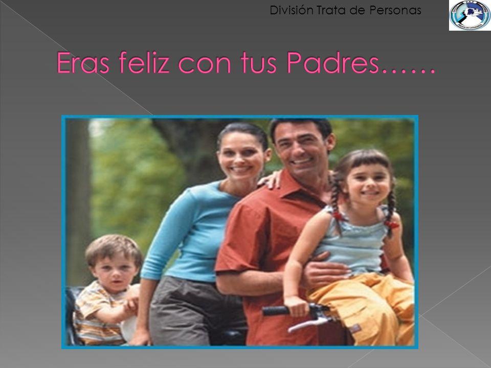 Eras feliz con tus Padres……
