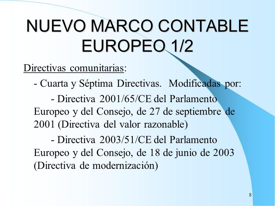 NUEVO MARCO CONTABLE EUROPEO 1/2