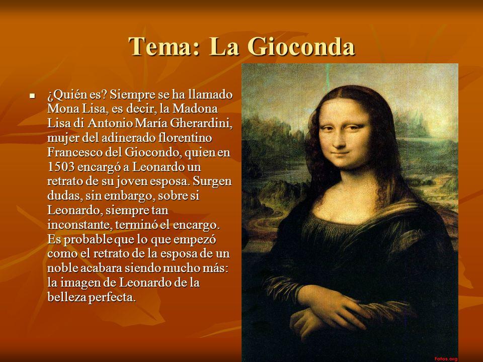 Tema: La Gioconda