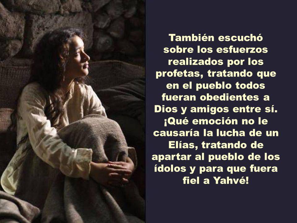 También escuchó sobre los esfuerzos realizados por los profetas, tratando que en el pueblo todos fueran obedientes a Dios y amigos entre sí.